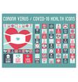 icons coronavirus covid-19
