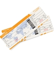 image of two airline boarding pass tickets vector image vector image