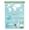 Information graphics green vector image