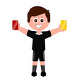 isolated male soccer referee vector image