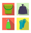 isolated object of cleaning and service icon vector image vector image