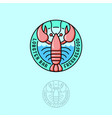 logo lobster seafood restaurant vector image vector image