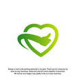 love heart icon best love logo concepts okay logo vector image vector image
