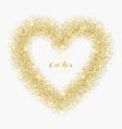 luxury gold glitter heart frame vector image vector image