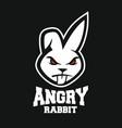 mascot angry rabbit logo vector image