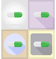 medical flat icons 06 vector image vector image