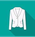 men blazer or jacket or suit symbol vector image