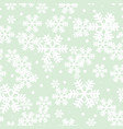 mint green christmas snowflakes repeat pattern vector image vector image