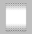 monochrome geometrical halftone pattern poster vector image vector image