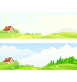 Morning hills banners vector image vector image