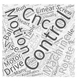 Motion Control The Heart of CNC Word Cloud Concept vector image vector image