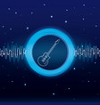 music waves digital emblem vector image vector image
