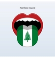 Norfolk Island language Abstract human tongue vector image vector image