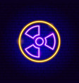 nuclear power neon sign vector image