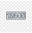 numbers concept linear icon isolated on vector image