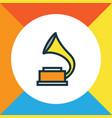 phonograph colorful outline symbol premium vector image