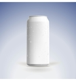 Photorealistic beer can mockup with water vector image vector image