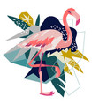 pink flamingo isolated on vector image vector image