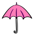pink umbrella on white background vector image vector image