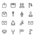 post icons vector image vector image