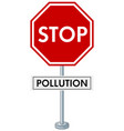 poster design with stop pollution vector image