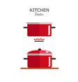 pot flat style icon isolated vector image