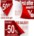 Price tags designg vector image