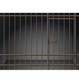 Prison cell with metal bars vector image