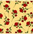 red rose bouquet on yellow background vector image