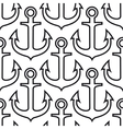 Retro ship anchors seamless pattern vector image vector image