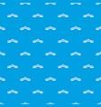 rialto bridge pattern seamless blue vector image