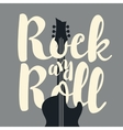rock and roll and an electric guitar vector image vector image