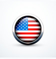 round usa flag icon vector image vector image