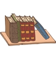 Row of Books on a Bookshelf vector image vector image