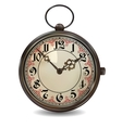 Rusty Pocket Watch vector image vector image