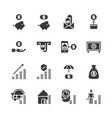 saving money and investment icon set vector image