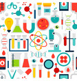 science laboratory seamless pattern vector image vector image