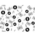 seamless musical symbols and marks seamless backgr vector image vector image