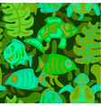 seamless pattern with stylized tribal aquatic anim vector image vector image