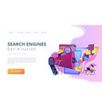 search engines optimization concept landing page vector image vector image