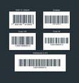 set of bar codes for different types of goods vector image vector image