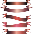 Set of red and pink ribbons vector image vector image
