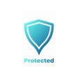 shield icon in trendy flat style isolated on vector image vector image