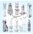 Sketch Isometric Buildings vector image