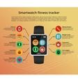 Smartwatch fitness tracker vector image vector image