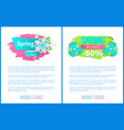 springtime sale web poster template add text vector image vector image