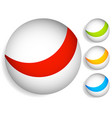 striped divided circles colorful sphere graphic vector image vector image