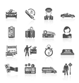 Taxi icons black set vector image