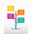time line business presentation concept 4 vector image vector image