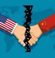 trade war policy between the usa and china vector image